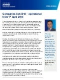 Companies Act 2013 – operational from 1st April 2014