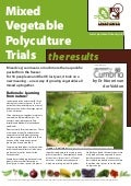 Mixed Vegetable Polyculture Trials - University of Cumbria