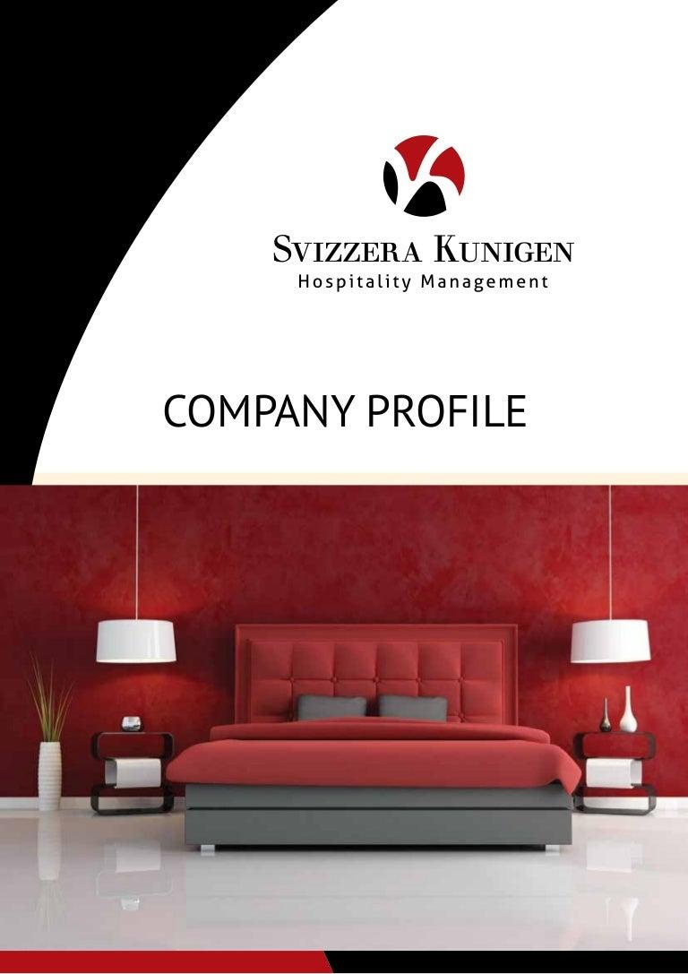 Company Profile Svizzera Kunigen Hospitality Management
