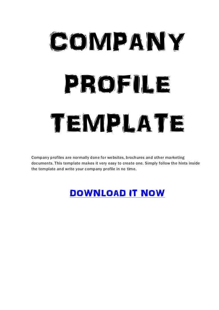 Company Profile Template – Sample Format of Company Profile in Word
