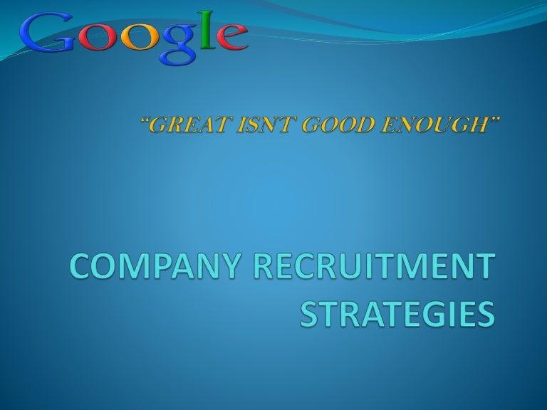 Company Recruitment Strategy