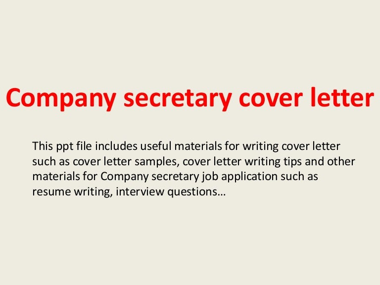 sales secretary cover letter