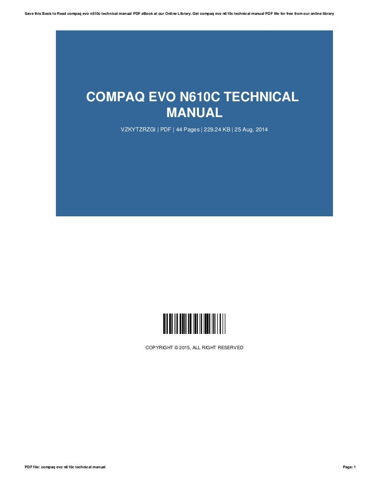 compaq evo pp2040 manual