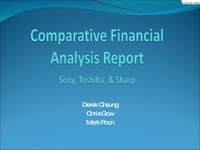 financial analysis report example - Ex