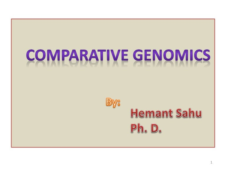 what is comparative genomics used for