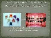 Comparative study of removable & fixed orthodontic appliance