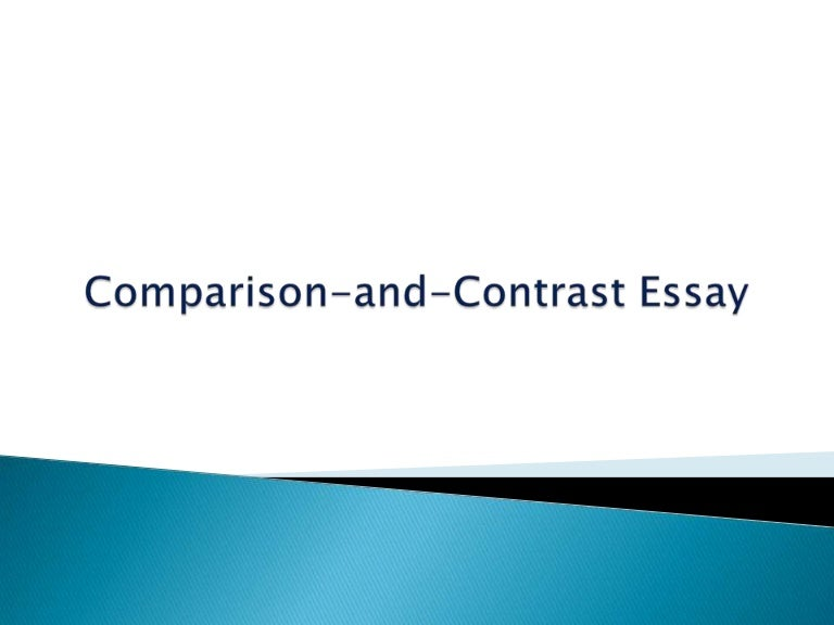Styles of Writing   Specific   Comparison  amp  Contrast