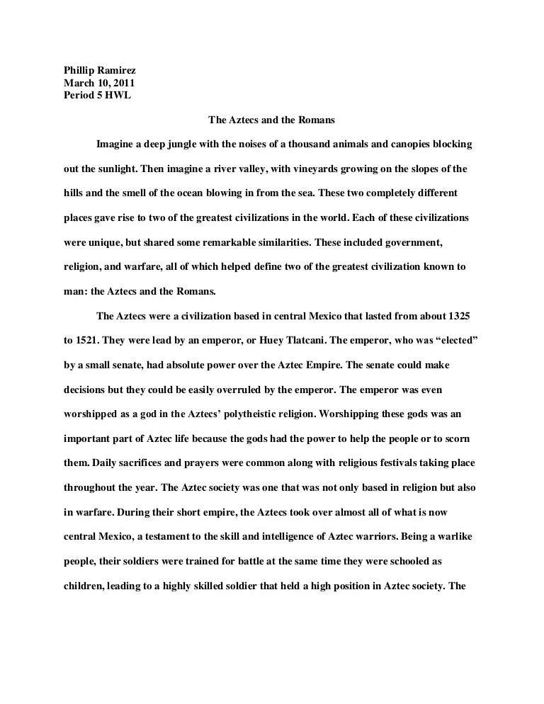 an essay essay geo essay the ancient civilizations of the a  compare and contrast the aztecs vs the r s