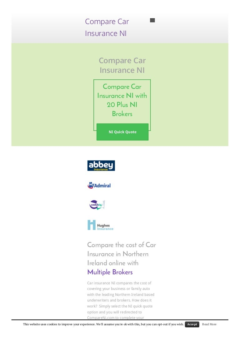 Multiple Insurance Quotes Compare Car Insurance Quotes Northern Ireland  44Billionlater