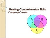 Undersatnding Compare & Contrast in Reading