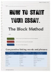 comparing texts how to start your essay