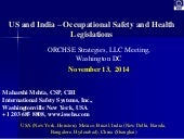 Comparison of US and India Health and Safety Regulations