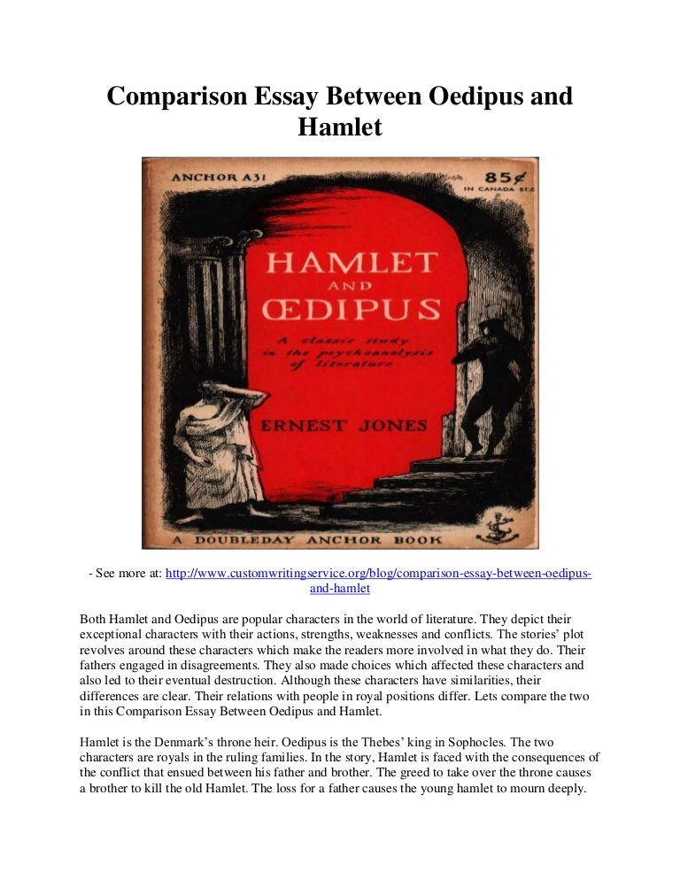 comparison essay between oedipus and hamlet