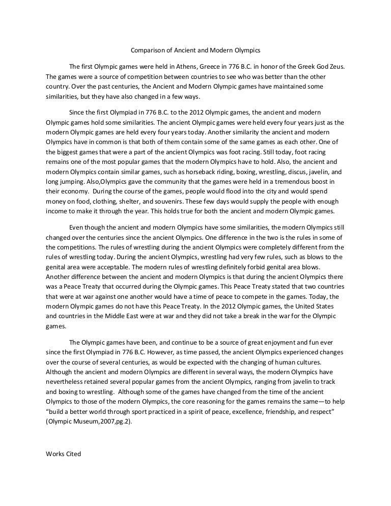 modern olympic games essay