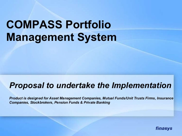 Compass Portfolio Management Proposal