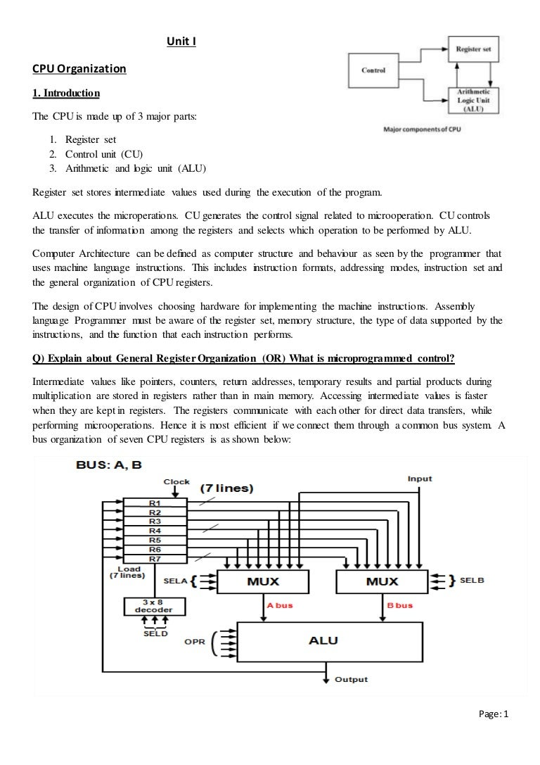 Computer Organization And 8085 Microprocessor Notes Logic Diagram Of