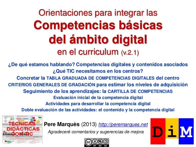 Orientaciones para integrar las competencias digitales en el curricul…
