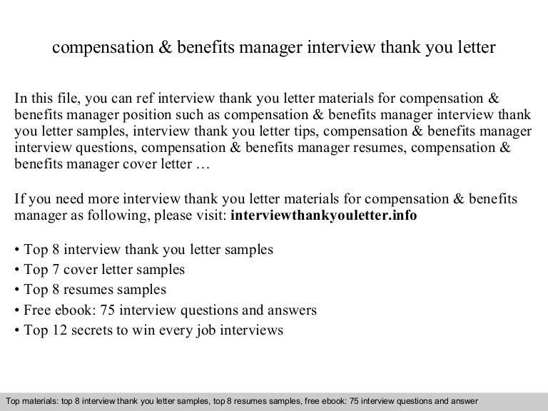 compensation benefits manager