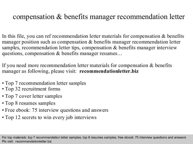 compensationbenefitsmanagerrecommendationletter 140825032620 phpapp01 thumbnail 4jpgcb1408937206