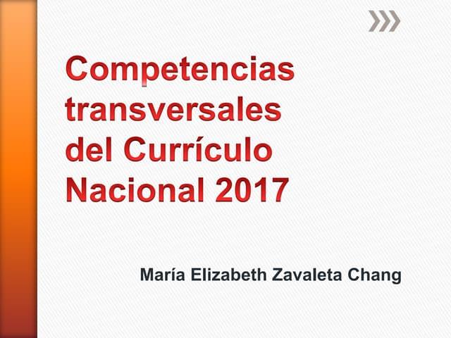 Competencias transversales del currículo nacional 2017