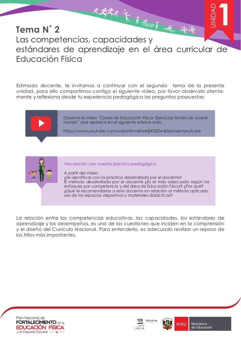 Competencias y capacidades del área de educación fisica