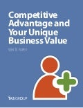Sales White Paper: Competitive Advantage And Your Unique Business Value