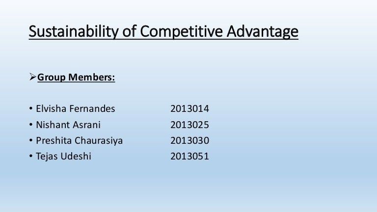 sustainable competitive advantage apple