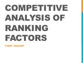 Competitive analysis of ranking factors