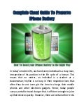 Complete Cheat Guide To Preserve iPhone Battery