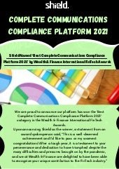 Complete communications compliance platform 2021   international fin tech awards