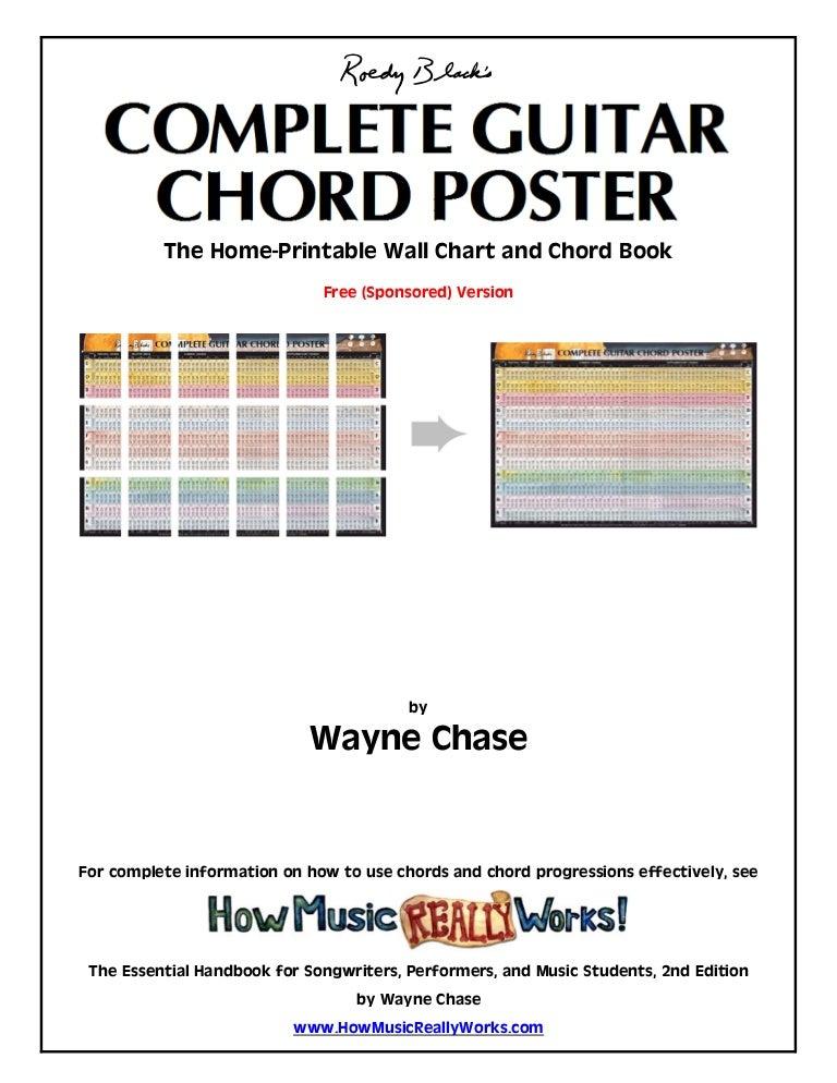 Complete Guitarchordposter Waynechasefreeedition