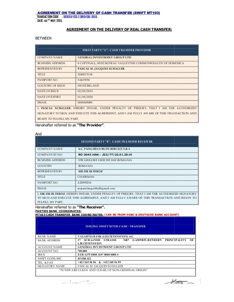 Complete mou mt103.real cash transfer latest[1] (1)