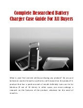 Complete Researched Battery Charger Case Guide For All Buyers