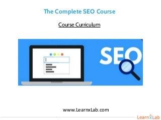 Complete seo course - LearnxLab.com