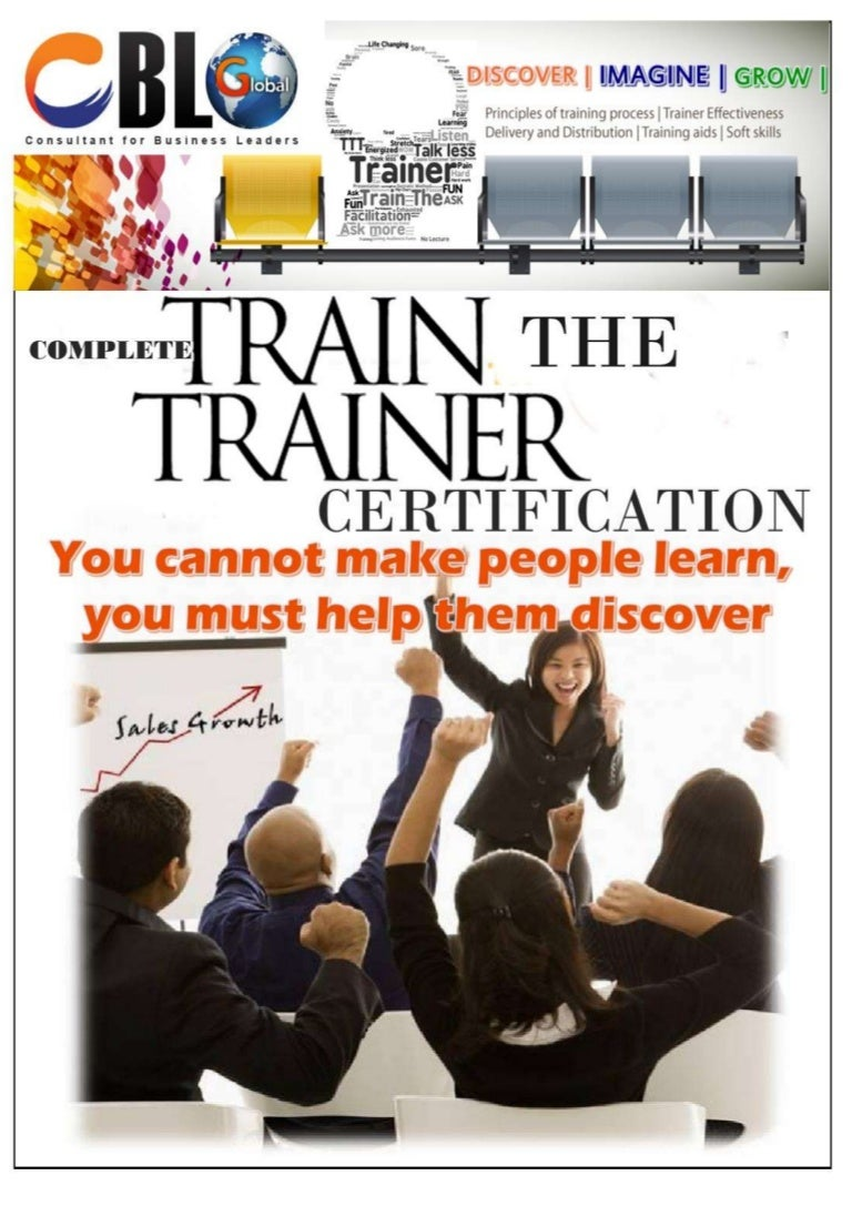 Complete train the trainer certification 1betcityfo Gallery