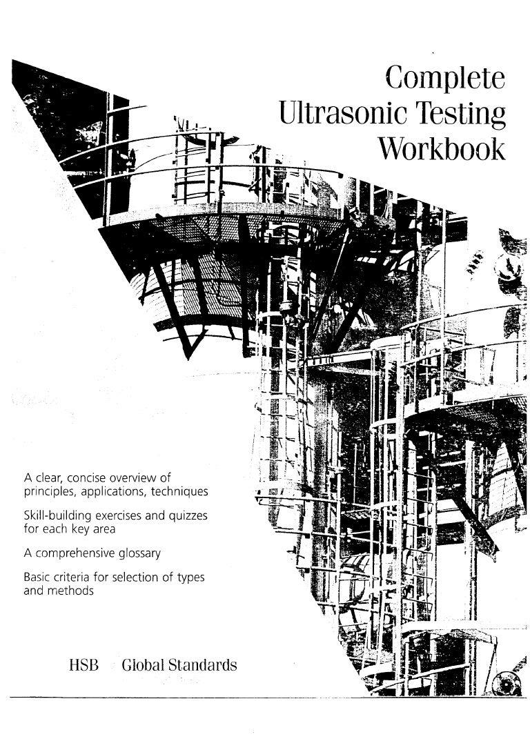 Complete ultrasonic testing work book