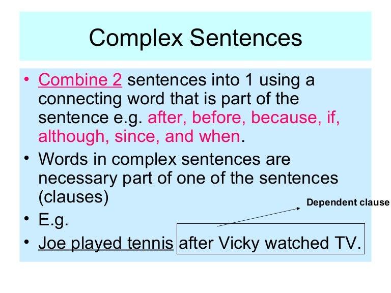 complex sentence examplesdocx sentence linguistics language - Complex Sentences Worksheet
