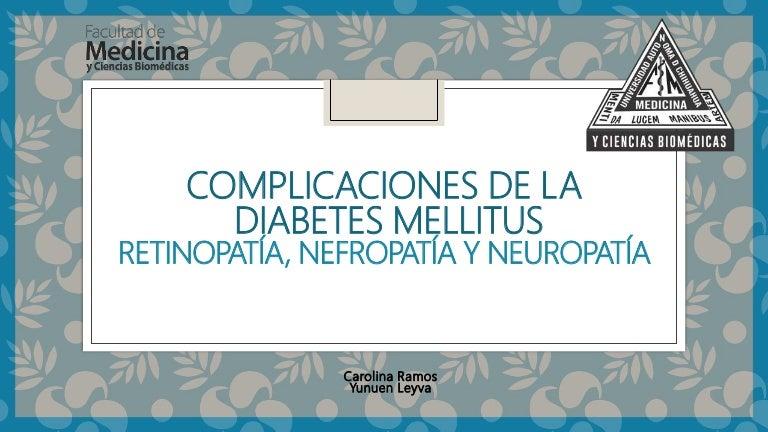 neuropatía y diabetes nefropatía