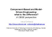 Component-Based and Model-Driven Engineering: what is the difference? A CBSE perspective