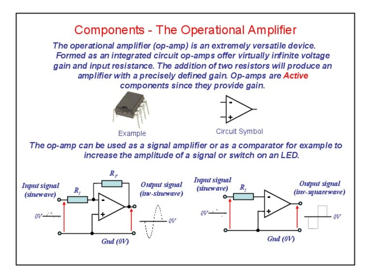 Components Operational Amplifiers