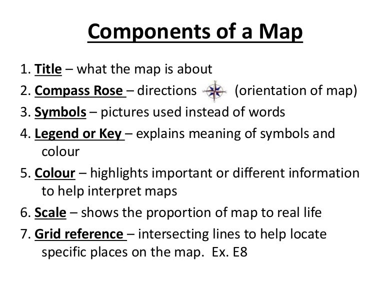 Components Of A Map