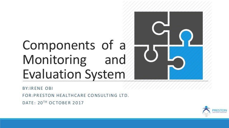 Components Of A Monitoring And Evaluation System
