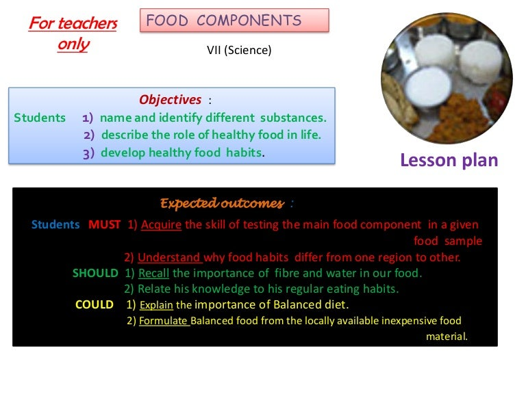 Components of food( comp)