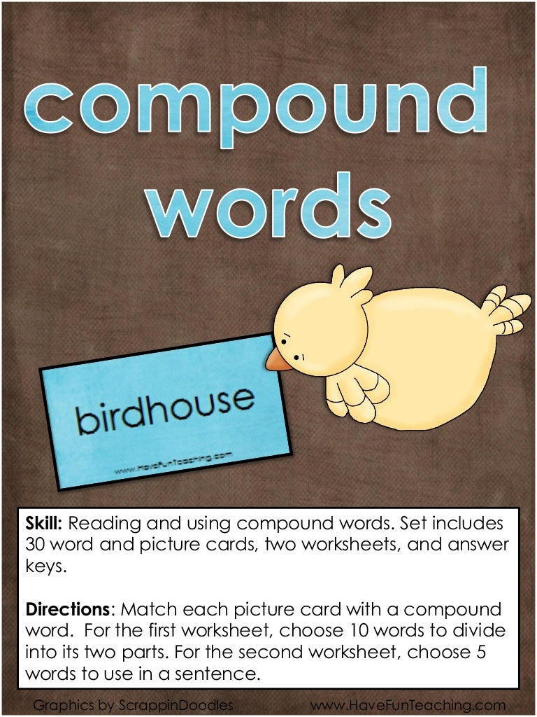 Compound words-activity