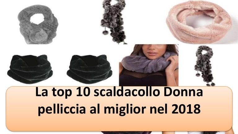 CASPAR STO001 Donna Collo di Pelliccia Sintetica
