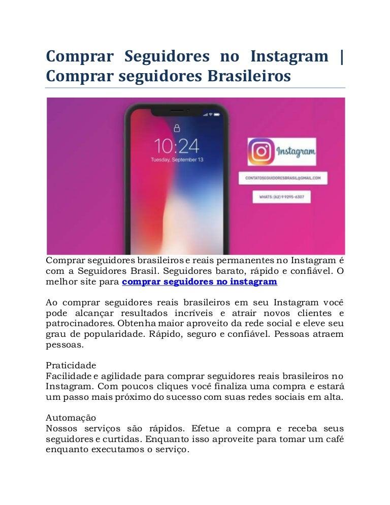 comprar seguidores instagram brasileiros mercado livre