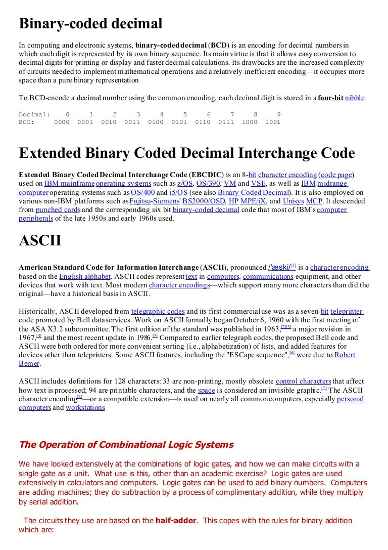 Comprehasive Exam It By Amit Chandra Bcd To Binary Coded Decimal Converter Data