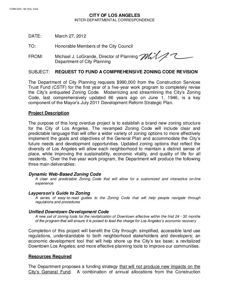 comprehensive zoning code revision proposal