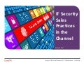 CompTIA - IT Security Sales Practices in the Channel