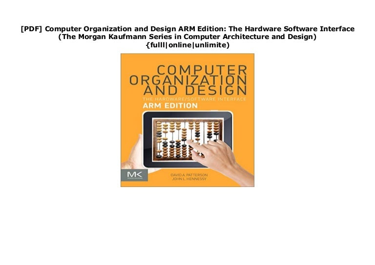 Pdf Computer Organization And Design Arm Edition The Hardware Soft